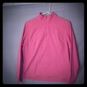 North Face Neon Pink Partial Zip Jacket, Size L